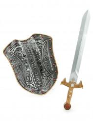 Sæt til middelalder riddere skjold og sværd til børn