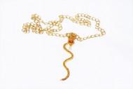 Guld halskæde med slange