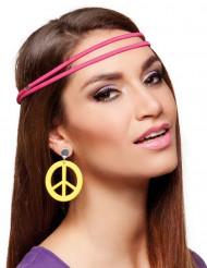 Gule hippie øreringe