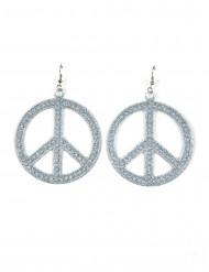 Sølvfarvede hippie-øreringe