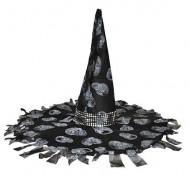 Heksehat sort og grå Halloween