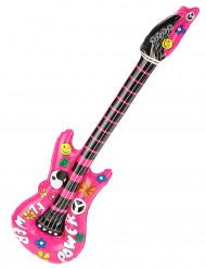 oppustelig lyserød Guitar