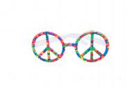 Flerfarvede hippiebriller
