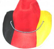 Tyskland supporterhat I rød, gul og sort