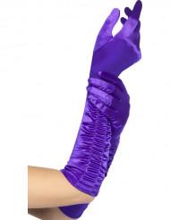 Lange handsker lilla kvinde