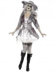 Kostume spøgelses-pirat kvinde Halloween