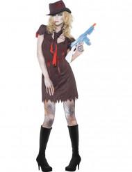 Kostume zombie gangster til kvinder Halloween