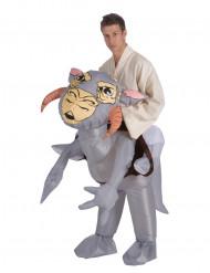 Oppustelig Tauntaun™ kostume til voksne