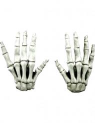 Korte skelethandsker voksen Halloween