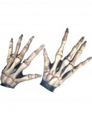 Skelet-handsker Voksen Halloween