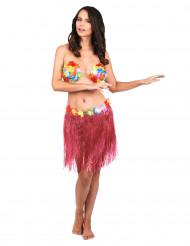 Skørt hawaii kort lyserødt til voksne