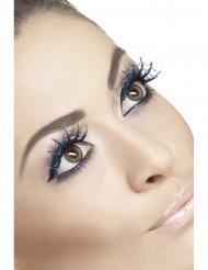 Falske øjenvipper blå spindelvæv voksen