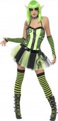 Kostume grøn alf til kvinder