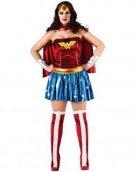 Kostume Wonder Woman™ til kvinder stor størrelse