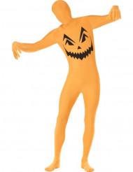 Kostume Second Skin græskar til voksne