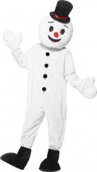 Kostume snemand maskot til voksne jul