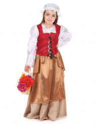 Kostume som middelalders bondekone pige