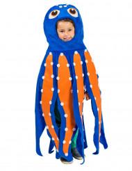Flerfarvet blækspruttekostume barn