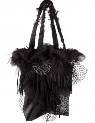 Sort taske med spindelsvæv Halloween