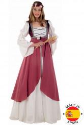 Lyserødt middelalder-kostume kvinde