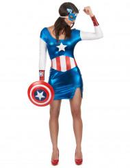 Udklædning sød superhelt Captain Girl kvinde