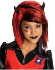 Rød gotisk paryk til børn