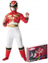 Power Rangers Megaforce™ rød dragt til børn
