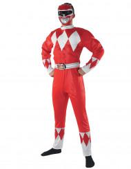 Kostume Power Rangers™ rød voksen