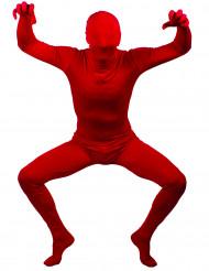 Anden hud rød voksen dragt