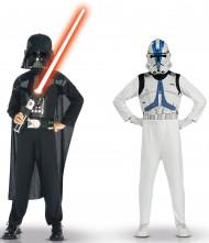 Kostumer Darth Vader og Clone trooper Star Wars™ til børn