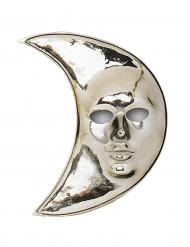 Maske måne af sølv til voksne