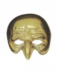 Guldfarvet maske med krum næse
