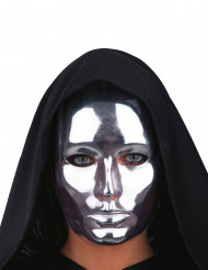 Sølvfarvet maske voksen