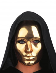 Guldfarvet maske voksen