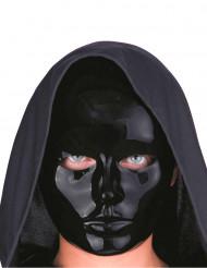 Sort glinsende maske til voksne