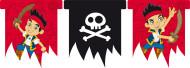 Guirlande med faner Jake og Piraterne™ 3 meter