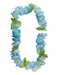 Krans hawaiiblomster blå