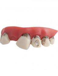 Snavsede kunstige tænder med diamant