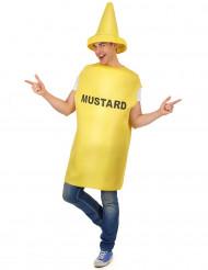 Kostume Sennepsflaske til voksne