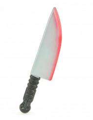 Plastic-kniv med blodstænk