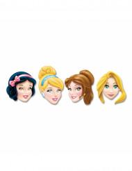 Sæt med 4 Disney-prinsesse-masker af pap