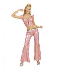 Top holografisk lyserød med sløjfe sexy til kvinder