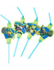 Sugerør Ninja turtles™ 8 stk.