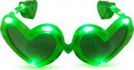 Gule hjerteformede briller med LED-lys