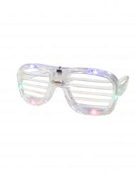 Gennemsigtige briller med LED-lys