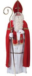 Sankt Nikolaus hvidt og rødt kostume til mænd