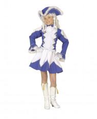Tamburmajor blå pige