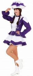 Kostume Cheerleader lilla til kvinder