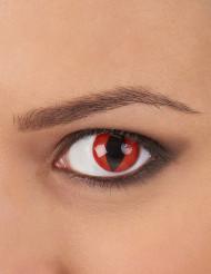 Røde reptil-kontaktlinser til voksne