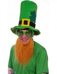 St Patricks velourhat med skæg